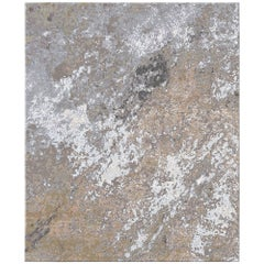 Sand Pebbles Contemporary Textured Hand-Knotted Wool and Silk 8x10 Rug