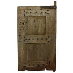 19th Century Primitive Moroccan Wooden Door