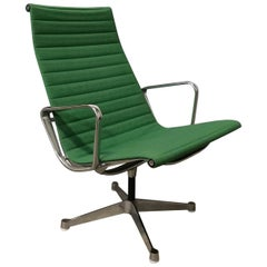 1958, Ray / Charles Eames; Miller, EA 116, Flat Base Easy Chair in Apple Green