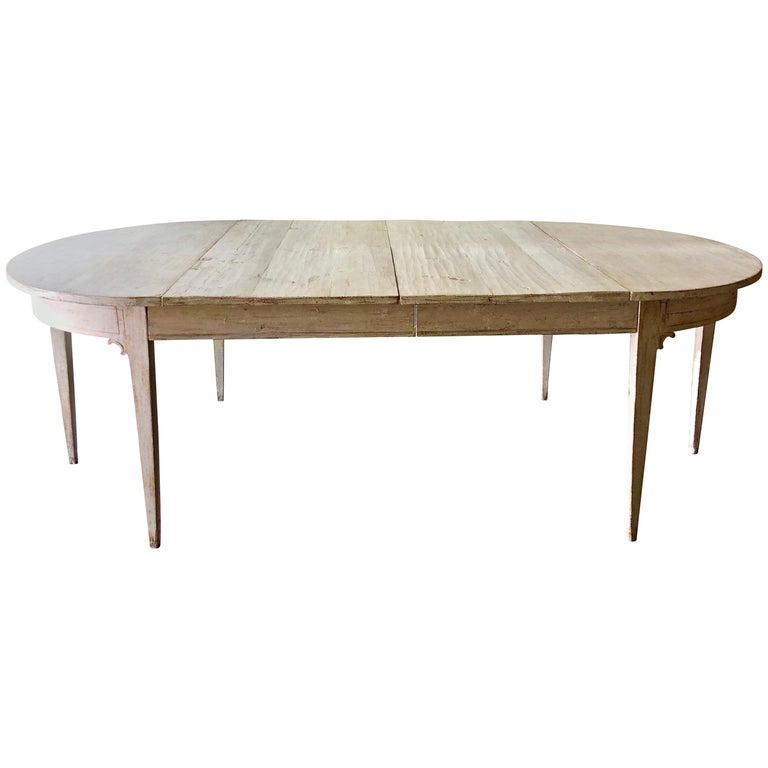 Early 19th Century Swedish Period Gustavian Extending Table For Sale