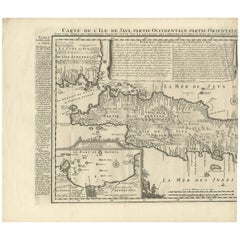 Antique Map of Java 'Indonesia' by Chatelain, 1719
