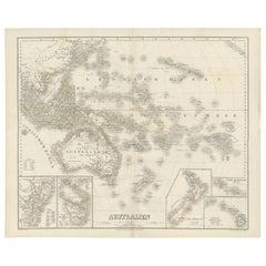 Antique Map of Australia by C. Gräf, 1857