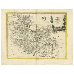Antique Map of Persia by a. Zatta, circa 1785