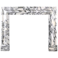 Baroque Bolection Fireplace in Italian Arabescato Marble Nr. 1