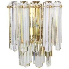 Pair of Large Kalmar Crystal Glass Sconces Wall Lights, Austria, 1970s