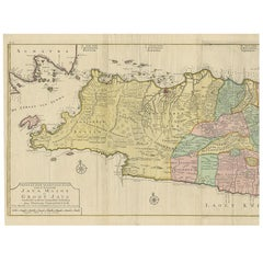 Antique Map of Java 'Indonesia' by F. Valentijn, 1728