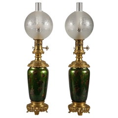 Charming Pair of Napoléon III Period Lamps