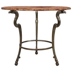 Neoclassical Iron and Marble Table