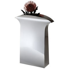 "Italian Handmade Modern Silver Plated Vase ""Papeete"" by G. Malimpensa for Mesa"