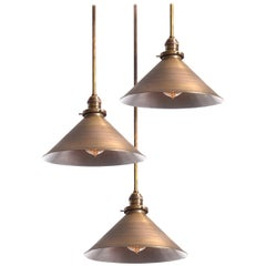 Simple and Elegant Spun Brass Shade
