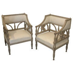 Swedish Empire Style Griffin Chairs