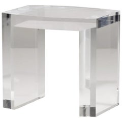 Acrylic Side Table Solid Italian End Table Clear Lucite