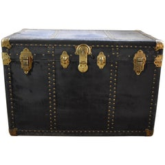 Rauchbach Goldsmith Vintage Travel Trunk Swedish American Line, 1920s