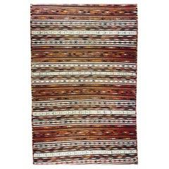 Antique Flat Woven Turkish Kilim Rug