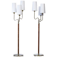 Rare Floor Lamps by Hans Bergström, ASEA, Sweden from 1942