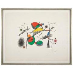"""Raymond Queuneau"" Color Lithograph by Joan Miro"
