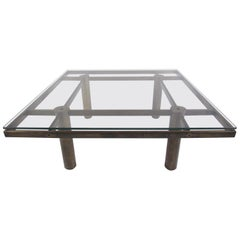 Vintage Modern Brass Coffee Table in the Style of Afra & Tobia Scarpa