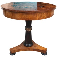 Continental Neoclassical Inlaid Mahogany Center Table, circa 1830