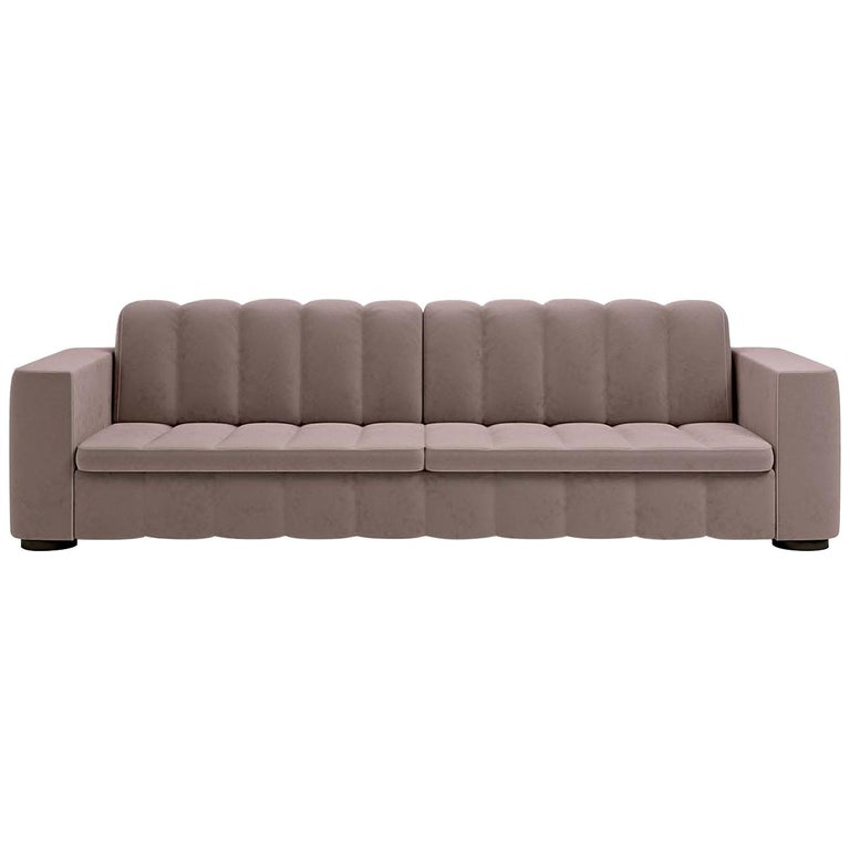 who 39 s perfect boston leather corner sofa beige at 1stdibs. Black Bedroom Furniture Sets. Home Design Ideas