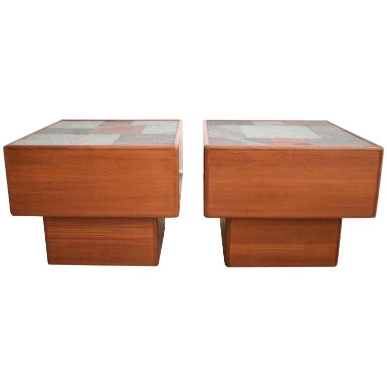 Pair of Midcentury Teak Side Tables