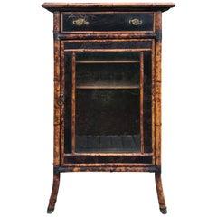 19th Century Antique English One Door Cabinet