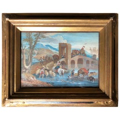 18th Century French Genre Painting, Caravan