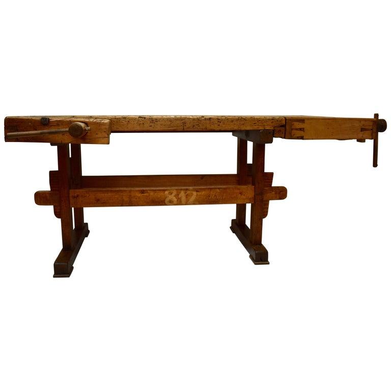 Oak Carpenter's and Joiner's Workbench