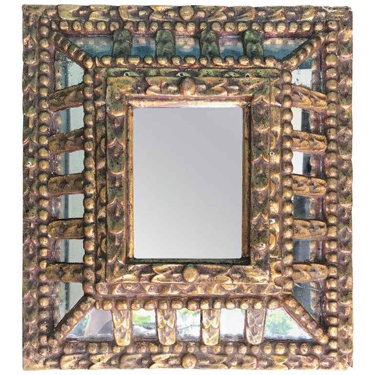 19th-20th Century Italian Giltwood Mirror For Sale