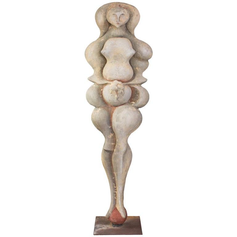 Maxine Kim Stussy Monumental Concrete Sculpture For Sale