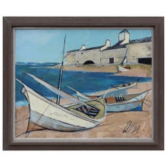 Charles Levier Barques Oil Painting