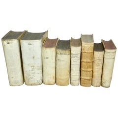 17th and 18th Century Collection of Eight All Vellum Books
