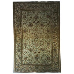 Antique Kashan Rug with Old Colors All-Over Design