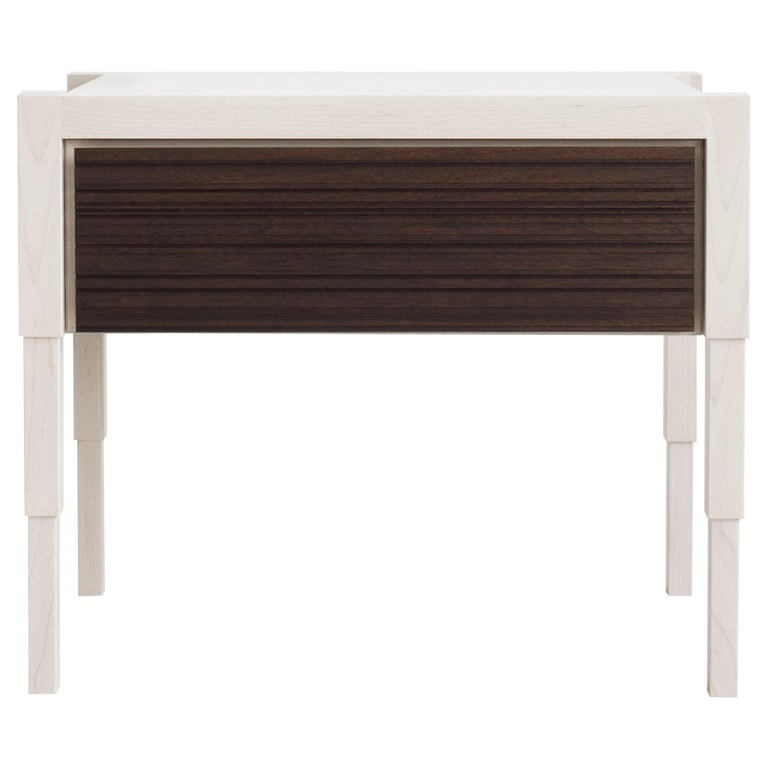 Chicago Side Case Table in Whitewash-Oiled Walnut by May Furniture
