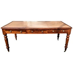 19th Century Regency Mahogany Partner's Desk or Writing Table