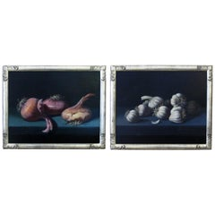 Oil on Canvas, a Finely Rendered Pair of Still Life Paintings, Signed M V Millan