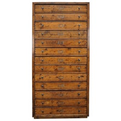 Dutch Pine Apothecary Cabinet, 1940s