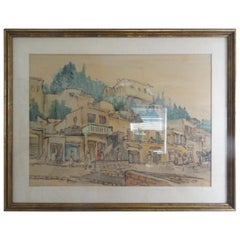 Zvi Ehrman Signed Water Color