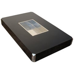Willy Rizzo for Mario Sabot Black Laminate and Chrome Steel Coffee Table