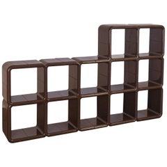 Kay Leroy Ruggles Brown UMBO Modular Shelf Unit for Directional