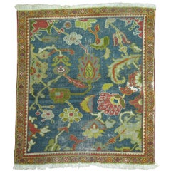 Shabby Antique Persian Ziegler Sultanabad Sampler Rug