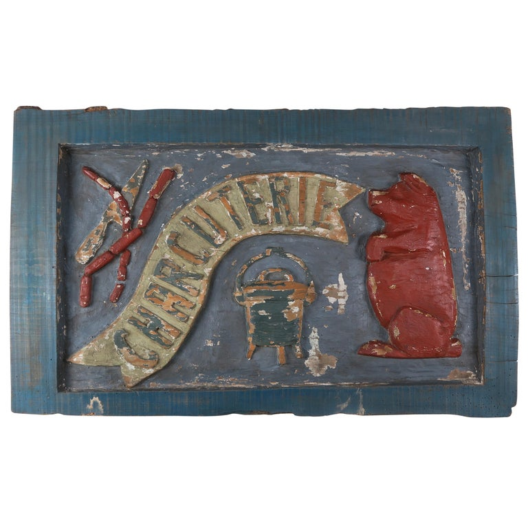 "19th Century Painted ""Charcuterie"" Sign"