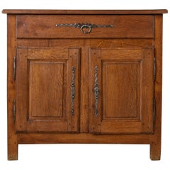 19th Century French Louis XIV Style Hand Pegged Oak Buffet, or Sideboard