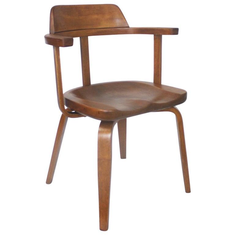 Rare Mid-Century Modern W199 Chair Designed by Walter Gropius for Thonet Bauhaus