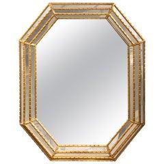 La Barge Giltwood Octagon Mirror