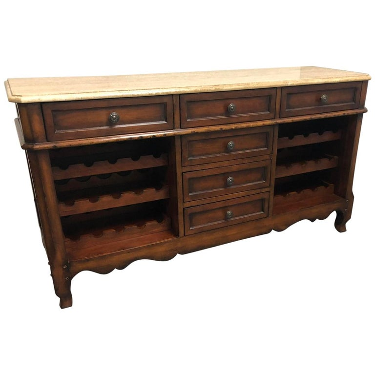 Baker Furniture Milling Road Wine Cabinet and Buffet