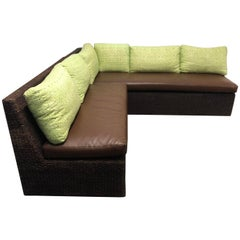 Walter's Wicker Works Two-Piece Sectional