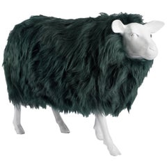 Sheep Sculpture, Sheepskin and Resin