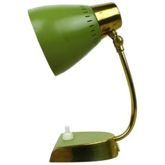 Small Green Bedside Table Lamp, Germany, 1950s