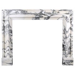 Beautiful Baroque Bolection Fireplace in Italian Arabescato Marble Nr. 2