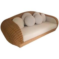 1970s Rattan Sofa